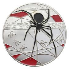 1 OZ SILVER Ag 999 MEDAL DEADLY DANGEROUS - SPIDER