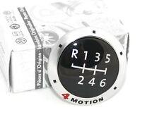 VW T5 Plakette für Schaltknauf 4Motion Original Schaltbetätigung Schaltgetriebe