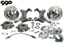 "71-72 Chevy C10 Gmc Truck 12"" Drilled Disc Brake 5 Lug Kit W/ 2.5"" Drop Spindle"