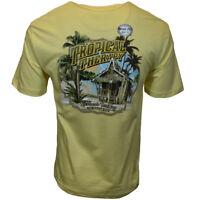 Men's T-Shirt Tropical Therapy Kickback Territory NEWPORT BLUE Yellow M L XL 2XL