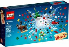 LEGO - 24 IN 1 CHRISTMAS BUILD UP/HOLIDAY BUILDING KIT/SANTA TOY SET 40253