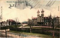 Vintage Postcard - Posted 1907 Worcester Academy Building Massachusetts MA #3629