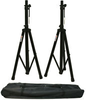 DJ Pa Speaker Universal Adjustable Height Tripod Stands & Nylon Carry Bag