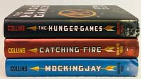 Set of 3 Hardcove Book The Hunger Games Catching Fire Mockingjay Suzanne Collins