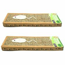More details for 2pk cat scratcher pads | kitten scratching board mat | 100% recyclable play toy