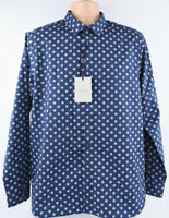 TED BAKER Men's Geo Print Shirt, Navy Blue, Ted size 5 / XL