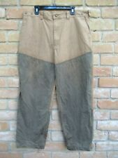 Well Used, Dirty Legs: USA Made FILSON Style 575 Tin Cloth Brush Pants; Size 40