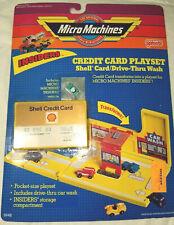 Rare insiders mini micro machines shell credit card playset pocket car wash lot