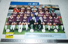 CLIPPING POSTER FOOTBALL 1989-1990 FC METZ LORRAINE SAINT-SYMPHORIEN GRENATS