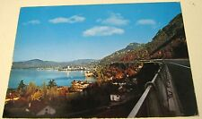 Switzerland Autoroute du Leman avec Chateau de Chillon et Montreux - posted 1972