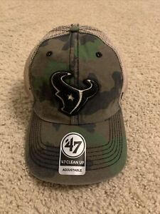 Camo Houston Texans 47 Brand Baseball Cap NWT NFL Clean Up