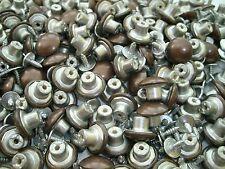20 Stück Nieten Knöpfe aus Metall - Ø 14 mm - Altkupfer