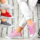 Nuevo Zapatos mujer Informales Zapatillas de Deporte Cordones ENCAJE