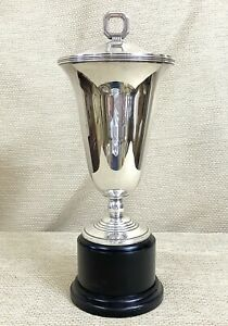 Rare Christofle Normandie Silver Plated Vase Trophy Luc Lanel French Art Deco