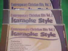 Contemporary Christian Hits #1, 2, & 3 ~ Christian ~Daywind ~Karaoke Style ~CD+G