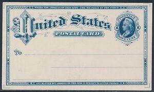 #UX4E-F 1¢ MORGAN ENVELOPE Co ESSAY IN DEEP BLUE ON WHITE CARD VF BT483