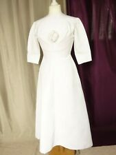 Robe de mariée vintage coton satiné blanche Taille FR38 US6 UK10 EUR36
