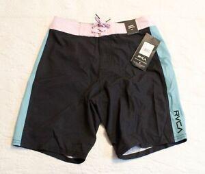 "RVCA Boy's Apex 16"" Board Shorts SV3 Black Size 26 NWT"