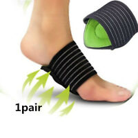 New 1Pair Comfortable Soft Foam FOOT ARCH SUPPORT Plantar Cushion Insole Band AU