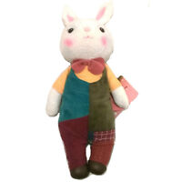 """New 11.8"""" Adorable Cute Kids Me Too British City Bow Tie Rabbit Stuffed Soft Toy"""