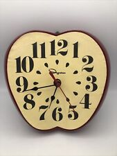 Vintage 1970's Big Apple Ingraham Electric Kitchen Wall Clock Work Missing Stem