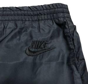 Nike Vintage 80s Gray Tag Windbreaker Track Pants Embroidered Logo Black Size XL
