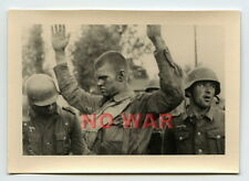 WWII ORIGINAL GERMAN PHOTO SOLDIERS CHECK WOUNDED POW SOVIET SOLDIER