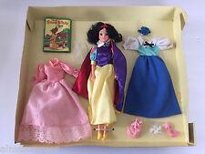 DISNEY'S SNOW WHITE & HER FAVORITE DRESSES the 7 Dwarfs GIFT SET w/ Doll BIKIN