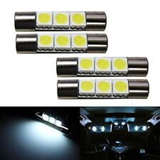 4x For Interior Mirror Vanity Sun Visor LED Xenon 28mm 29mm Festoon White Bulb