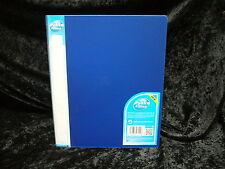 1 x Pukka Ringbinder 25mm Azul Polipropileno anillas Carpeta de archivo 7124PFL