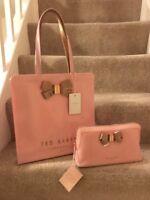 Ted Baker Bow Detail Large Icon Bag & Washbag Pink & Rose Gold ⭐️NEW GIFT