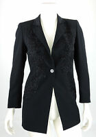 Frank Usher Blazer 38 (D) 12 (UK) Long Jacke Sakko schwarz  Cocktail top