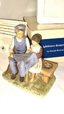 """Norman Rockwell 1979 """"The Light House Keeper's Daughter� Figurine Coa And Box"""
