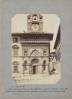 Arezzo Italia Foto Albumina Ca 1875