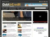 Hot Debt Load / Credit Cards Resource Niche Wordpress Blog Website For Sale!