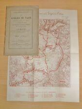 MALAFOSSE Gorges du TARN MONTPELLIER Le Vieux CARTE COULEURS EO Géologie 1889