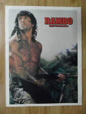 Movie Poster Sylvester Stallone Rambo First Blood Part 2