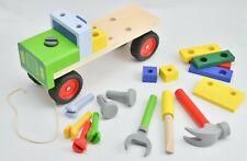 LKW Echtholz Motorikspielzeug Holzspielzeug Werkzeug Bausatz zum Schrauben