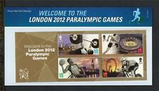 GB 2012 WELCOME TO LONDON, PARALYMPIC GAMES PRESENTATION PACK NO 475