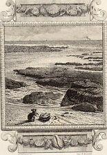 EAU FORTE / Fables de la Fontaine 1883 / LE RAT ET L'HUITRE