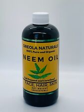 Neem Oil by Oreola Naturals, 100% Pure and Organic, Cold Pressed and Unrefined