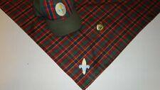 Webelos Boy Scout Uniform Hat S/M Neckerchief and slide Plaid BSA