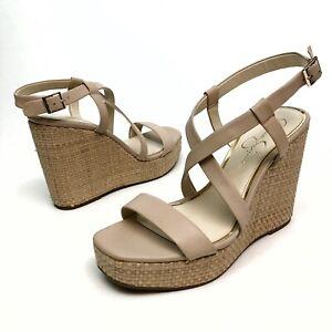 ✅❤️✅$ Jessica Simpson Women Salona  Wedge Platform Sandal 10 Eu42 Buckle NWOB