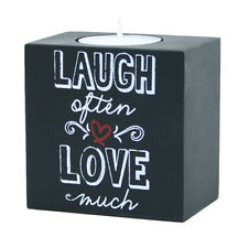 Candle With Quote - Laugh Often Love Much by Kindred Hearts