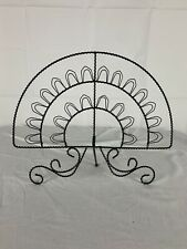 Vintage French Victorian Style Wire Fan Postcard Photo Display Stand Holder