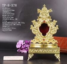 """+ Nice Brass ornate """"Reliquary"""" for church or home with Tabor Pedestal TP-8-X78"""