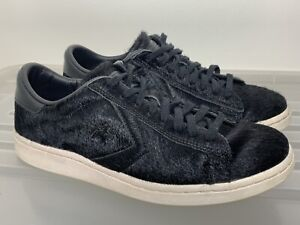 CONVERSE Pro Leather Black Pony/Calf Hair Fur Sneakers Flats Size US 7 #19881