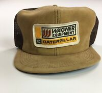 Vintage Wagner Equipment Caterpillar CAT K Brand Snapback Hat 70s 80s USA  Seeds 821aa0cafd4d