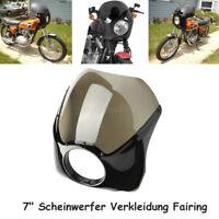 """Motorrad 7"""" Scheinwerfer Verkleidung Fairing Universal Für Harley Cafe Racer"""