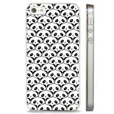 Patrón de Oso Panda caso cubierta de teléfono Claro animal se adapta iPhone 5 6 7 8 X